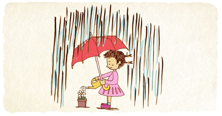 雨降り イラスト